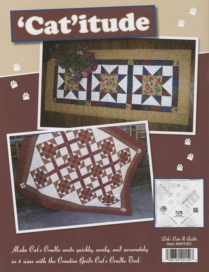Catitude, Quilting Patchwork Book, Debs Cats N Quilts - Fabrics N Quilts
