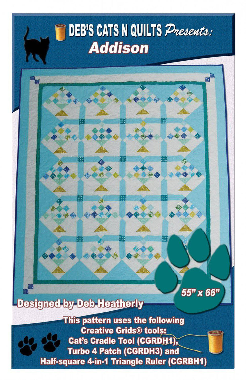 Addison Flower Basket Pattern, Debs Cats N Quilts - Fabrics N Quilts