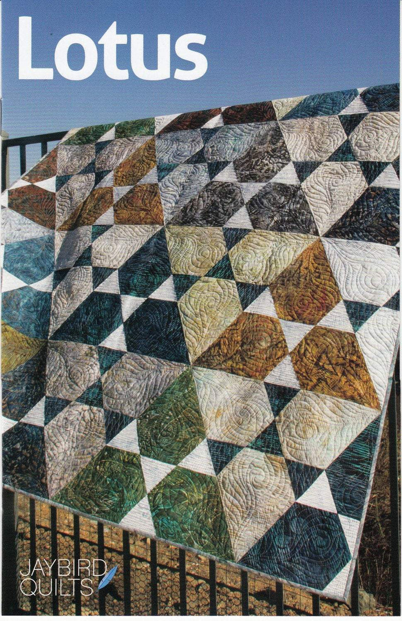 Lotus Quilt Pattern, Jaybird Quilts - Fabrics N Quilts