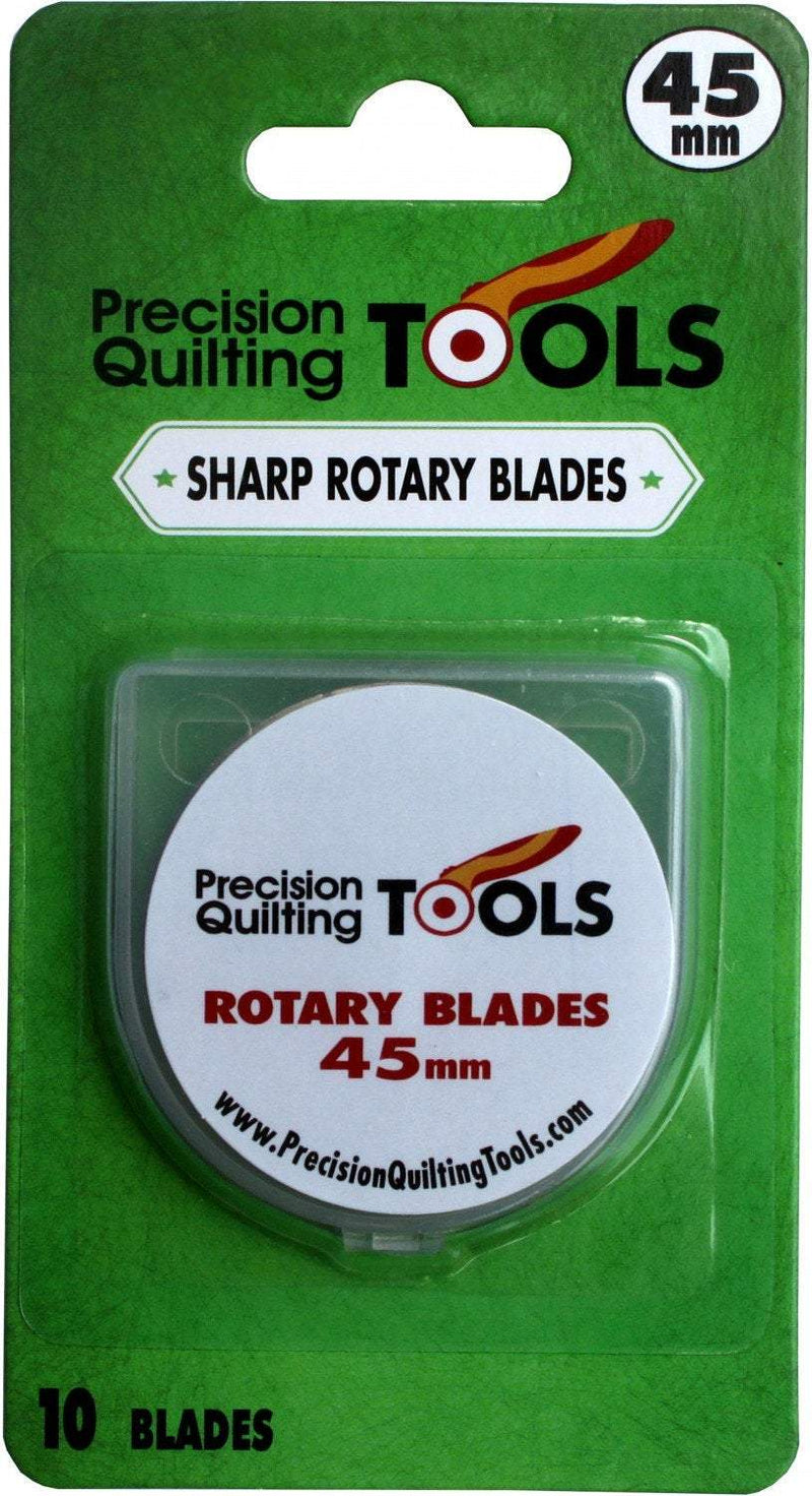 45mm Rotary Blades, Precision Quilting, Pack of 10 - Fabrics N Quilts
