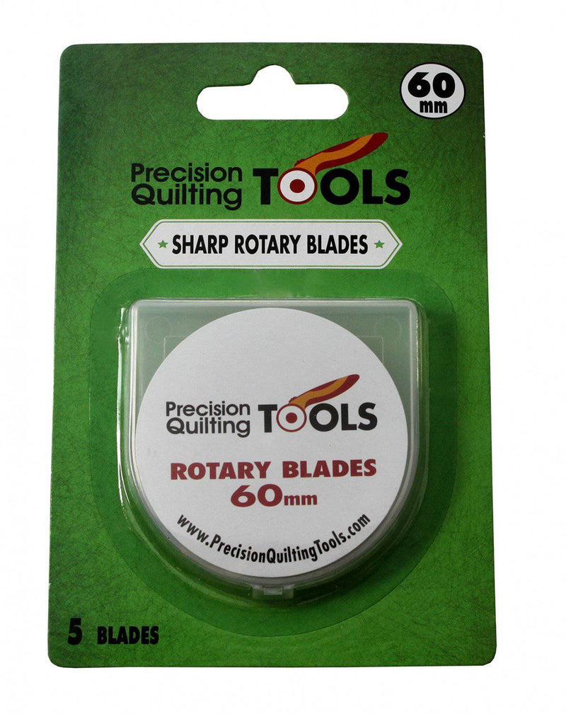 60mm Rotary Blades, Precision Quilting, Pack of 5 - Fabrics N Quilts