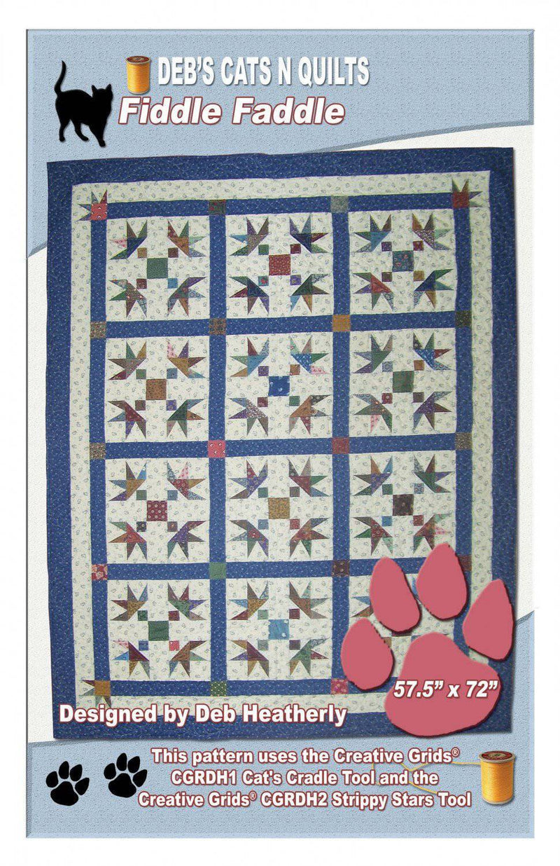 Fiddle Faddle Lap Quilt Pattern, Deb's Cats N Quilts - Fabrics N Quilts