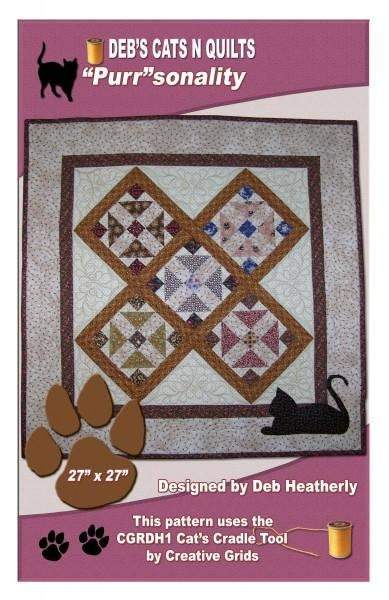 Purrsonality Table Topper Quilt Pattern, Debs Cats N Quilts - Fabrics N Quilts