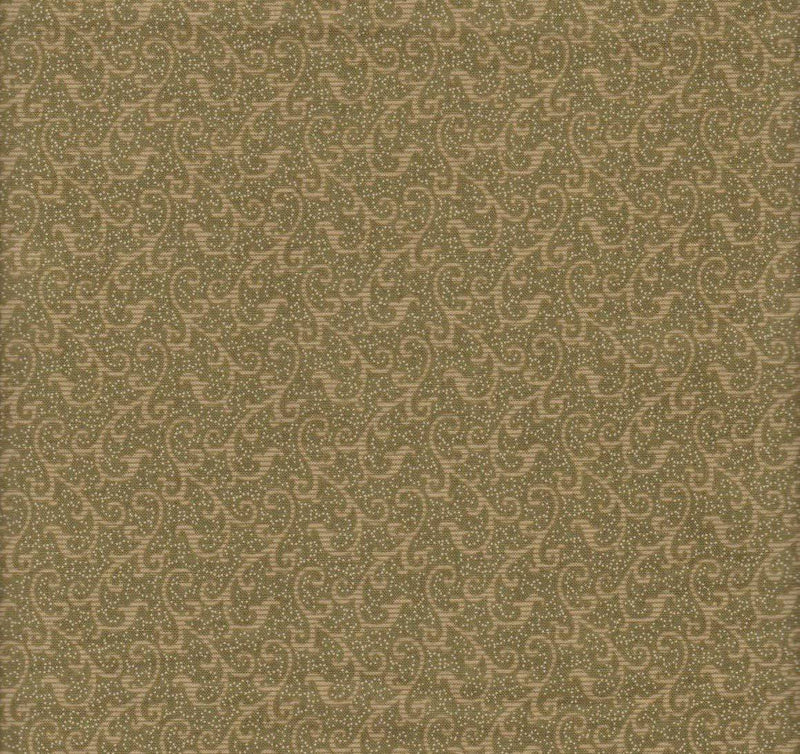 Windsor Scroll Olive Green, 24542-G - Fabrics N Quilts