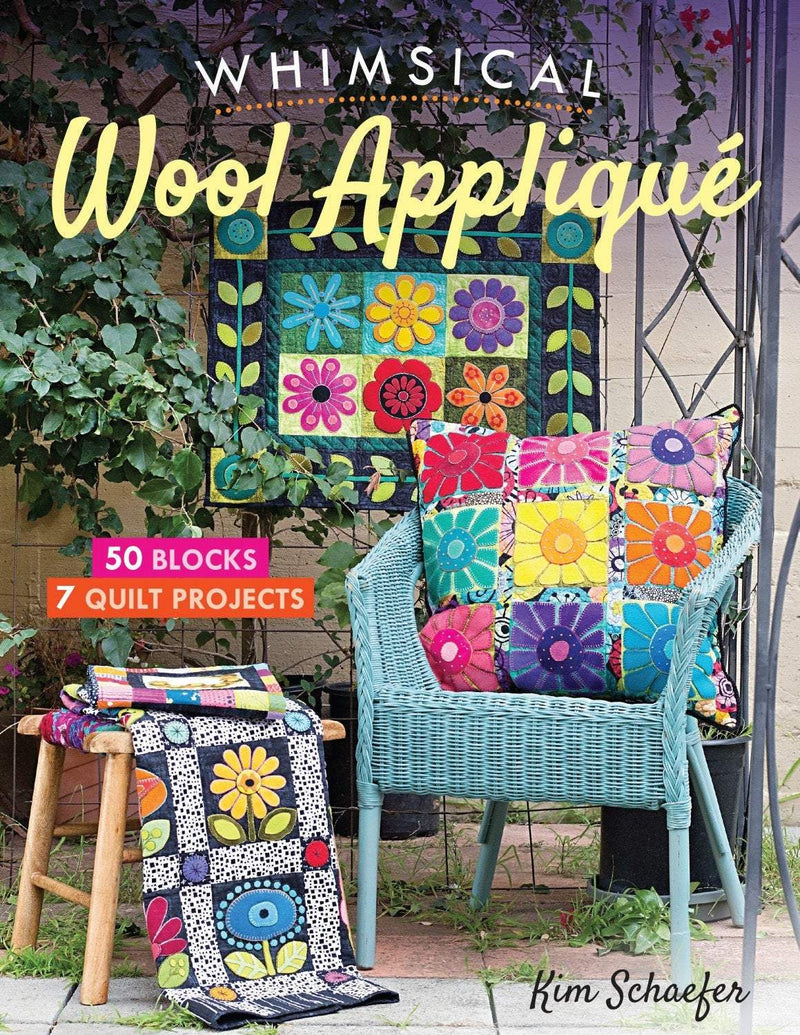 Whimsical Wool Applique Book, Kim Schaefer - Fabrics N Quilts
