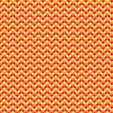 Slow Poke, Red Yellow Chevron 26954-RS 1 1/4 yard - Fabrics N Quilts