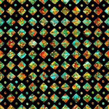 Rhythm, Diamonds Black 27105 J - Fabrics N Quilts