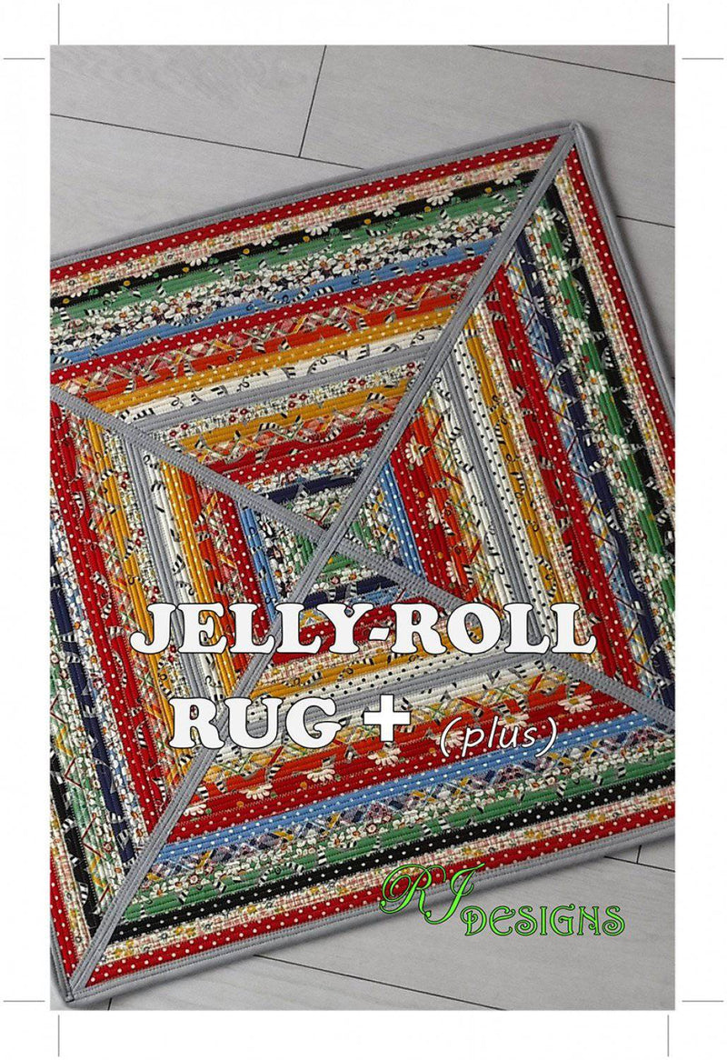 Jelly Roll Rug Plus - Square - Pattern-RJ Designs - Fabrics N Quilts