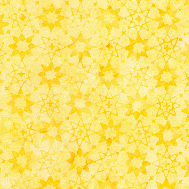 Buttercream Tonga Batik, Halo Yellow Floral B6941 - Fabrics N Quilts