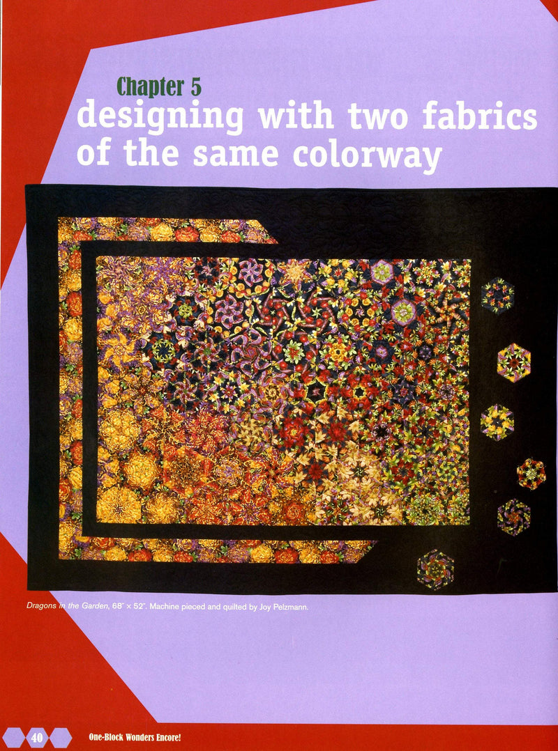 One-Block Wonders Encore, Joy Pelzmann and Maxine Rosenthal - Fabrics N Quilts
