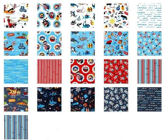 Pirate's Life, Jelly Roll 7350-40 Rollie Polie - Fabrics N Quilts