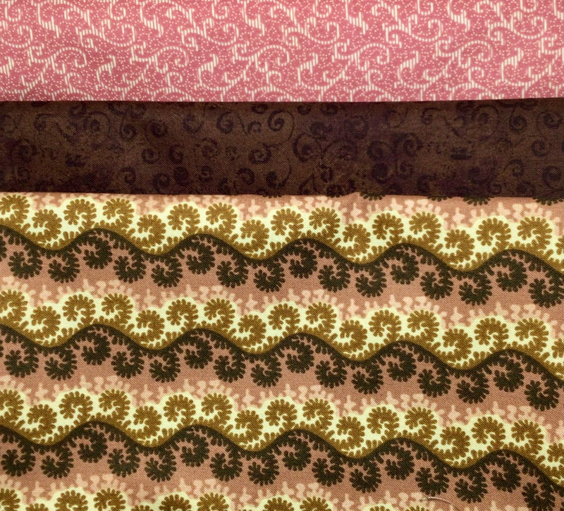 3 yard quilt kit bundle - Brown & Pink