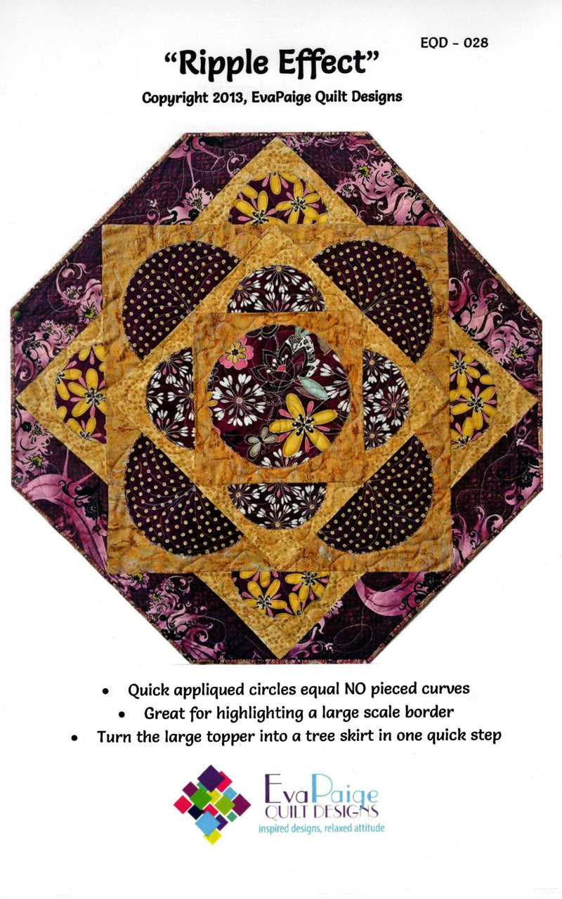 Ripple Effect Table Topper Pattern, Eva Paige Quilt Designs - Fabrics N Quilts