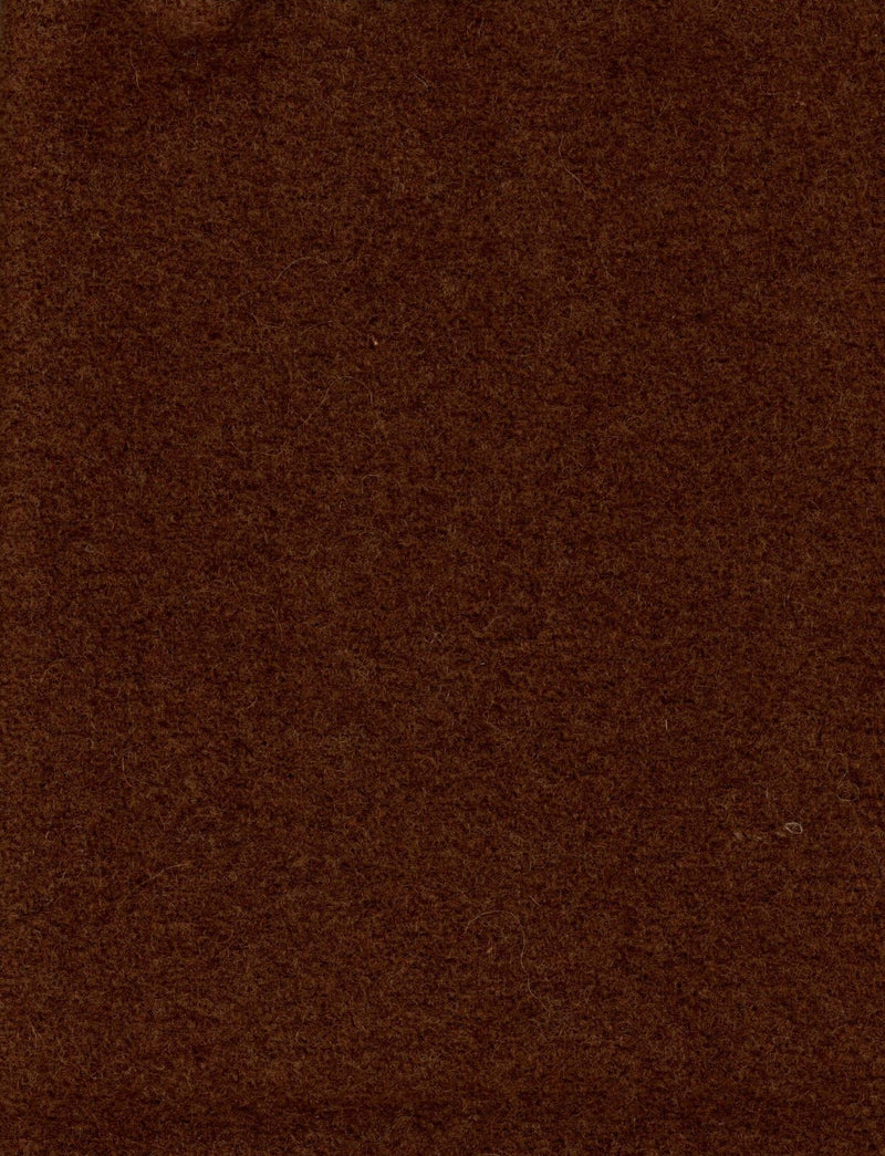 Wool Chubby 9x10 Moda Dirt Brown Solid 58410 - Fabrics N Quilts