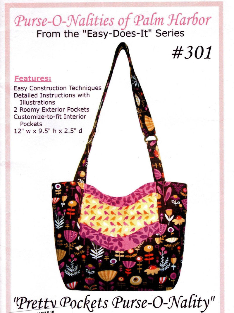 Pretty Pockets Tote Pattern, Purse-O-Nalities - Fabrics N Quilts