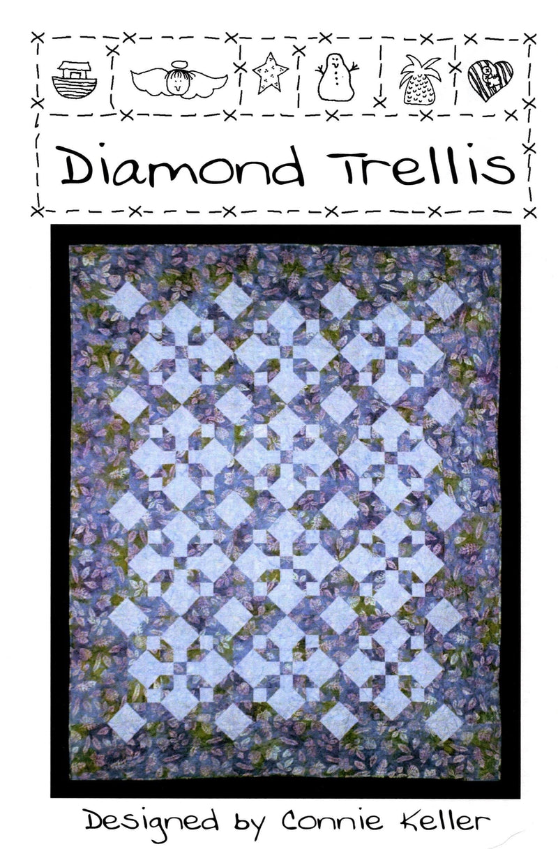 Diamond Trellis Quilt Pattern, Quilt Country - Fabrics N Quilts