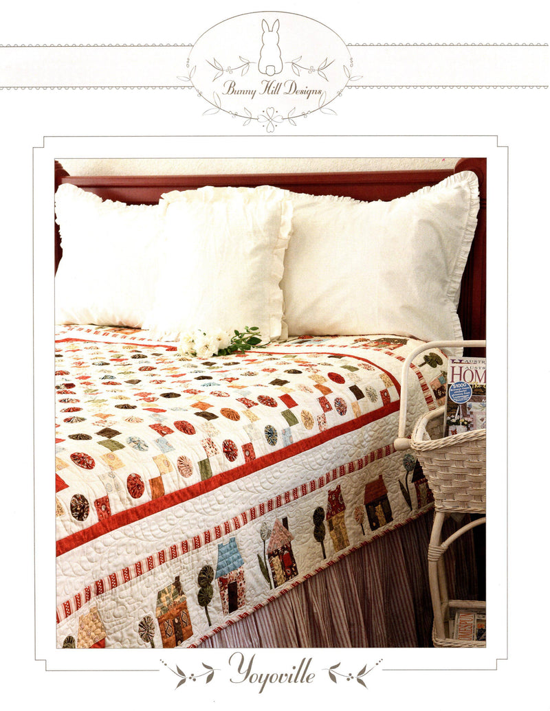 Yoyoville Twin, Full Bed Quilt Pattern - Fabrics N Quilts