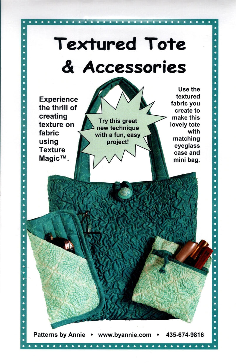 Textured Tote & Accessories Purse Pattern, by Annie - Fabrics N Quilts