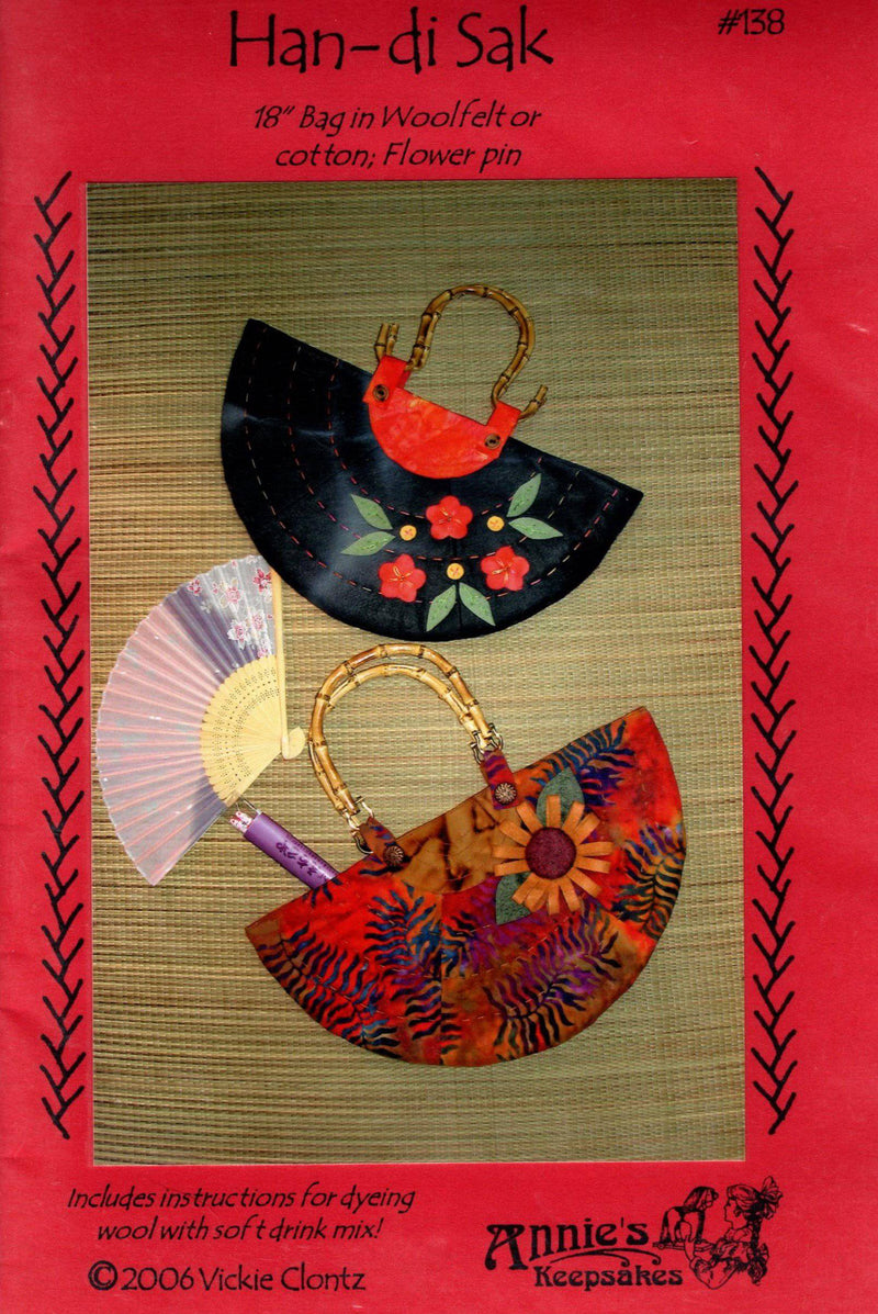 Han-di Sak Wool Purse Pattern, Annies Keepsakes - Fabrics N Quilts