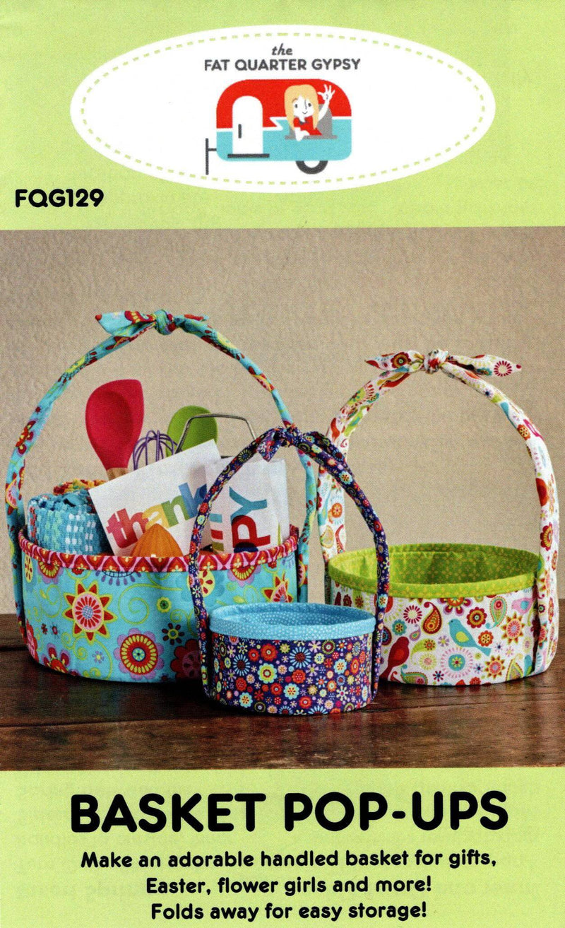 Basket Pop-Ups FQG129 Fat Quarter Gypsy - Fabrics N Quilts