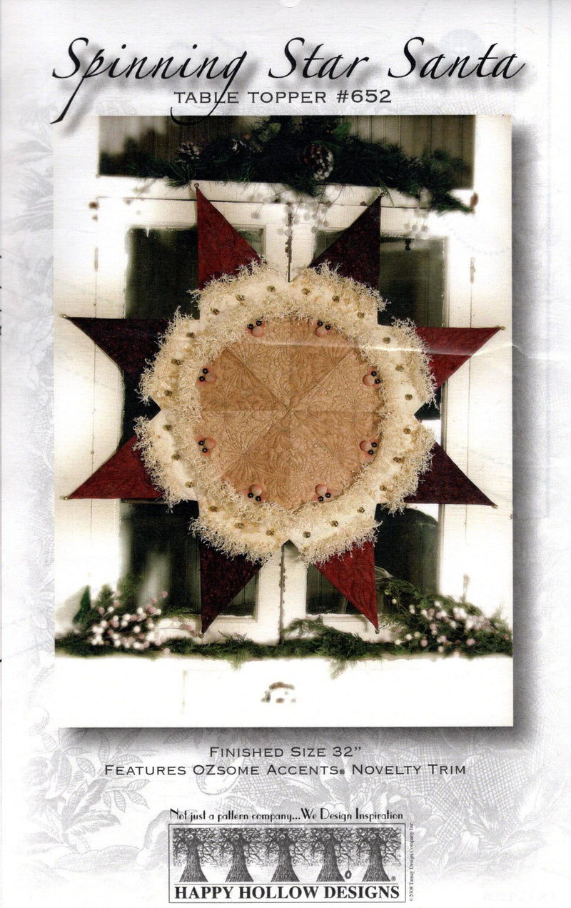 Spinning Star Santa Table Topper Quilt Pattern - Fabrics N Quilts