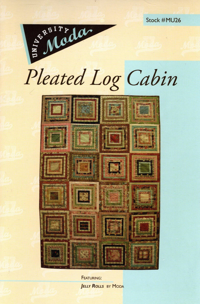 Pleated Log Cabin Jelly Roll Quilt Pattern MU26 - Fabrics N Quilts