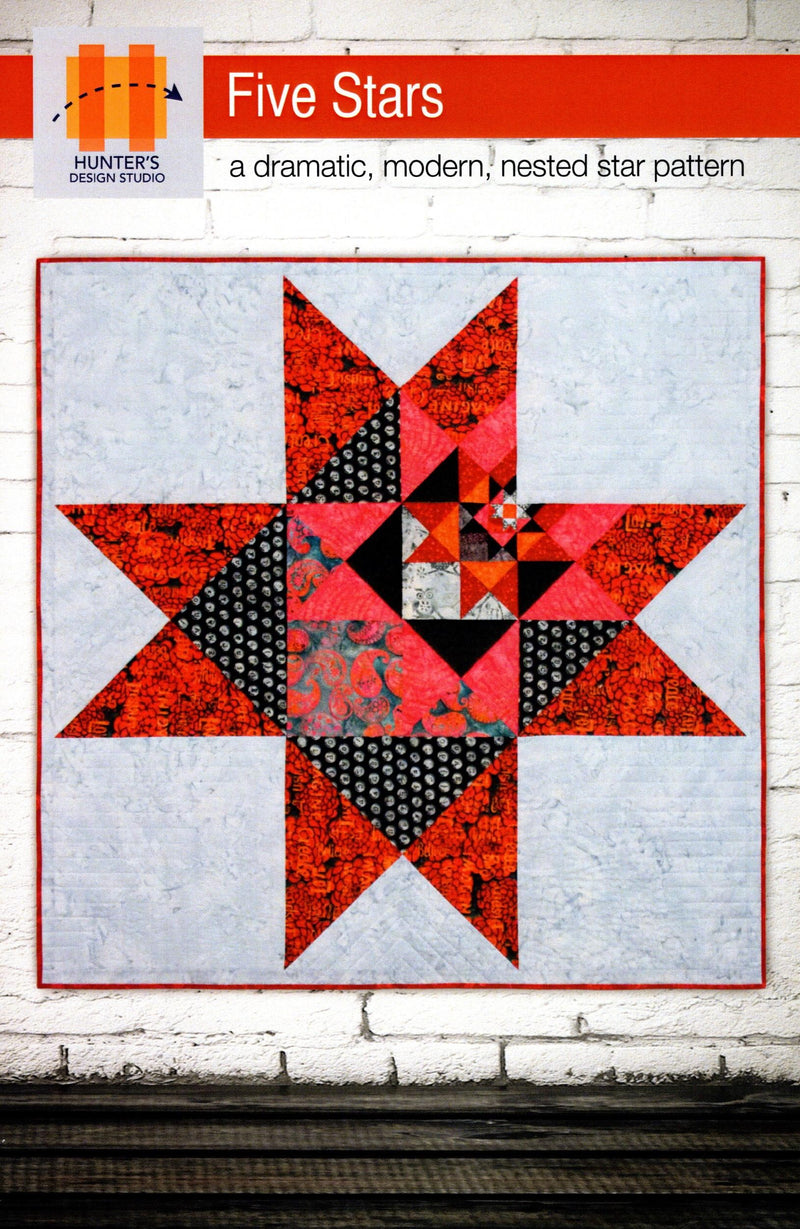 Five Stars Lap, Bed Quilt Pattern - Fabrics N Quilts