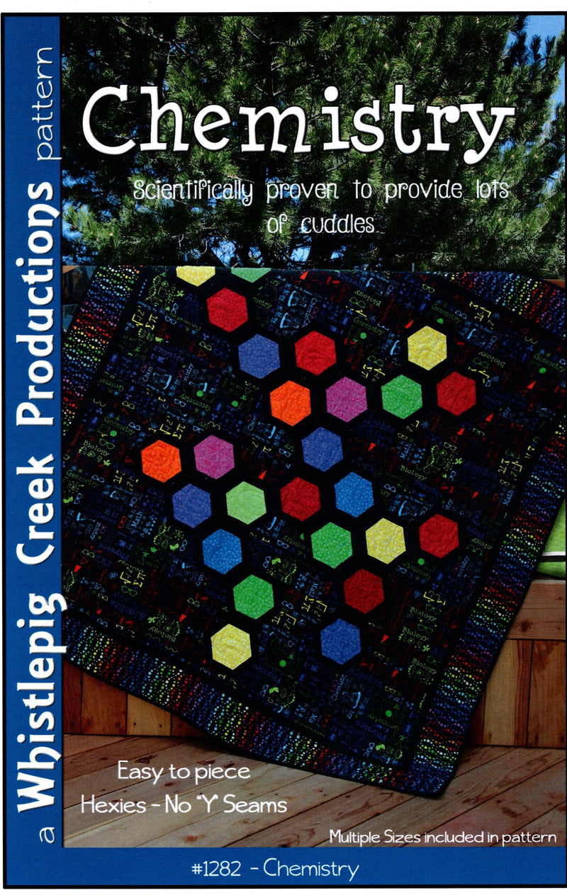 Chemistry Hexagon Quilt Pattern Whistlepig Creek 1282 - Fabrics N Quilts