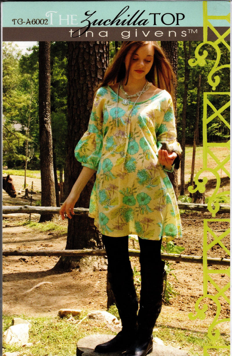 The Zuchilla Top Tunic Pattern, Tina Givens TG-A6002 - Fabrics N Quilts