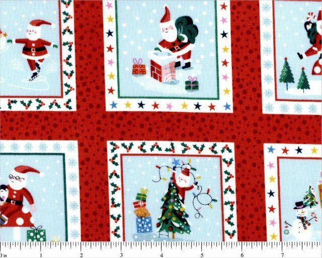 Jolly Santa Squares, Labels 1955-1 Andover - Fabrics N Quilts