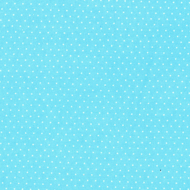 Paintbrush Essentials Turquoise White Micro Dot 120-121140 - Fabrics N Quilts