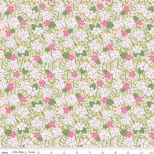 Let's be Mermaids, Seaweed Flowers C7612-Pink - Fabrics N Quilts