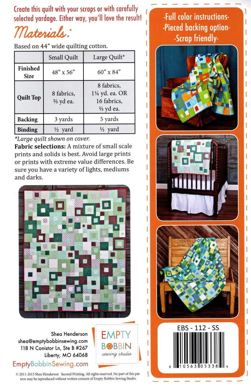Seeing Squares Quilt Pattern, Empty Bobbin Sewing Studio - Fabrics N Quilts