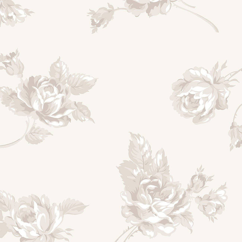 "Serenity Floral Wideback 107/108"" Cream - Fabrics N Quilts"