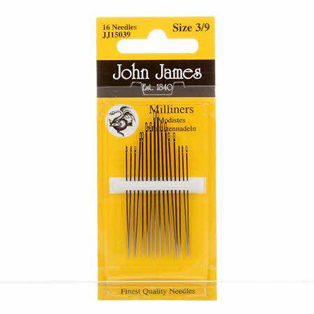 John James Assorted Sizes 3-9 Milliners Needles - Fabrics N Quilts
