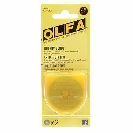 Olfa 45mm Rotary Cutting Blade, pack of 2 - Fabrics N Quilts