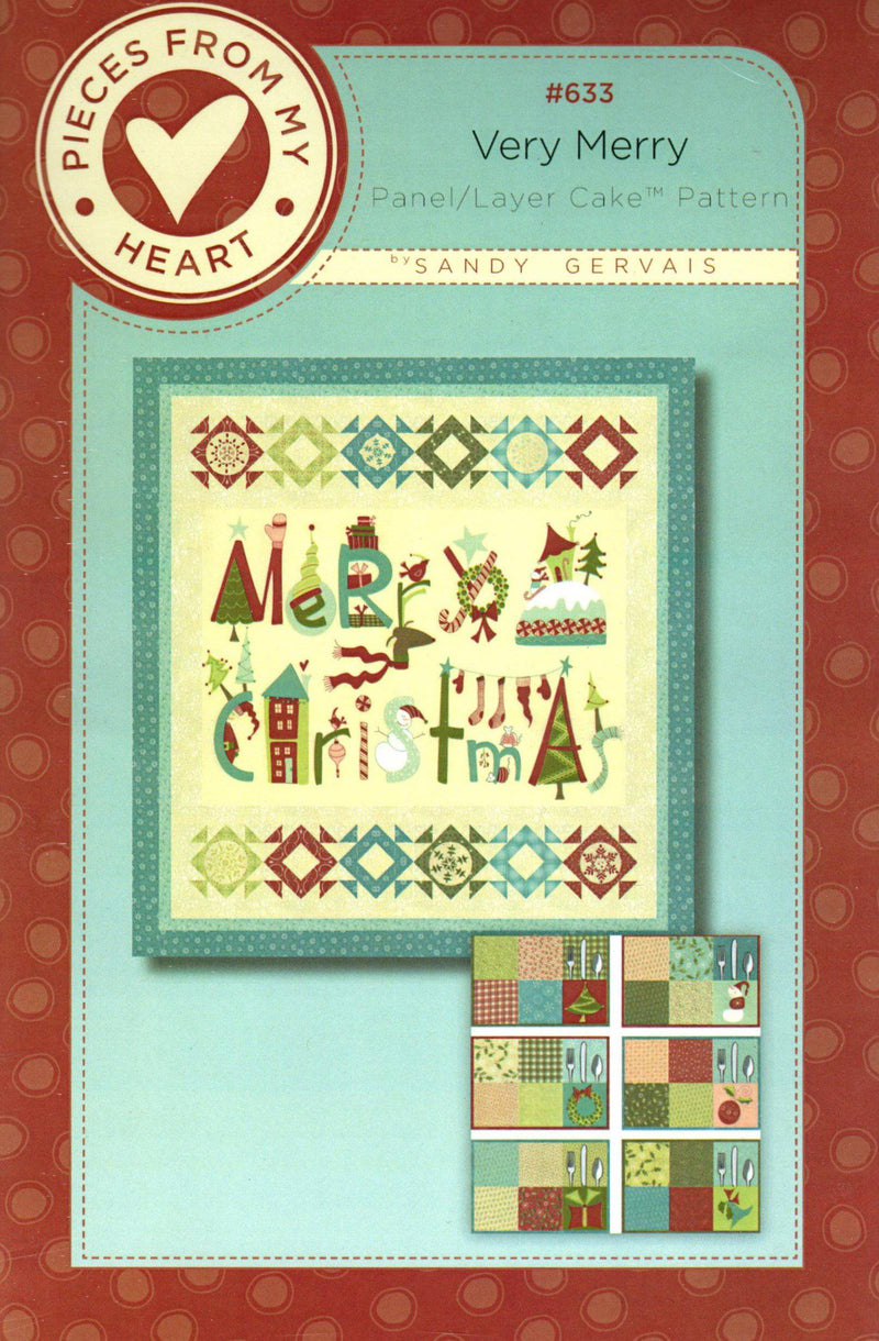 Very Merry Layer Cake, Panel Quilt Pattern - Fabrics N Quilts