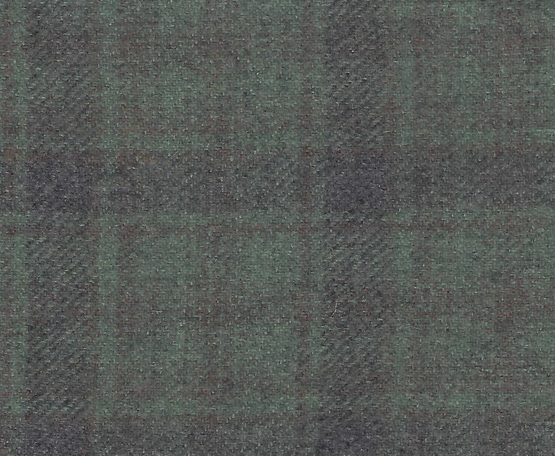 Hand Dyed Wool Fat Eighth Green Tartan Plaid - Fabrics N Quilts