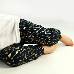 Gold Arrows on Navy - Child and Baby Leggings