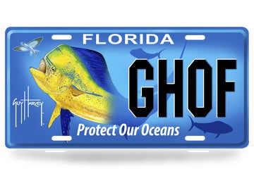 GUY HARVEY 'PROTECT OUR OCEANS' SPECIALTY LICENSE PLATE