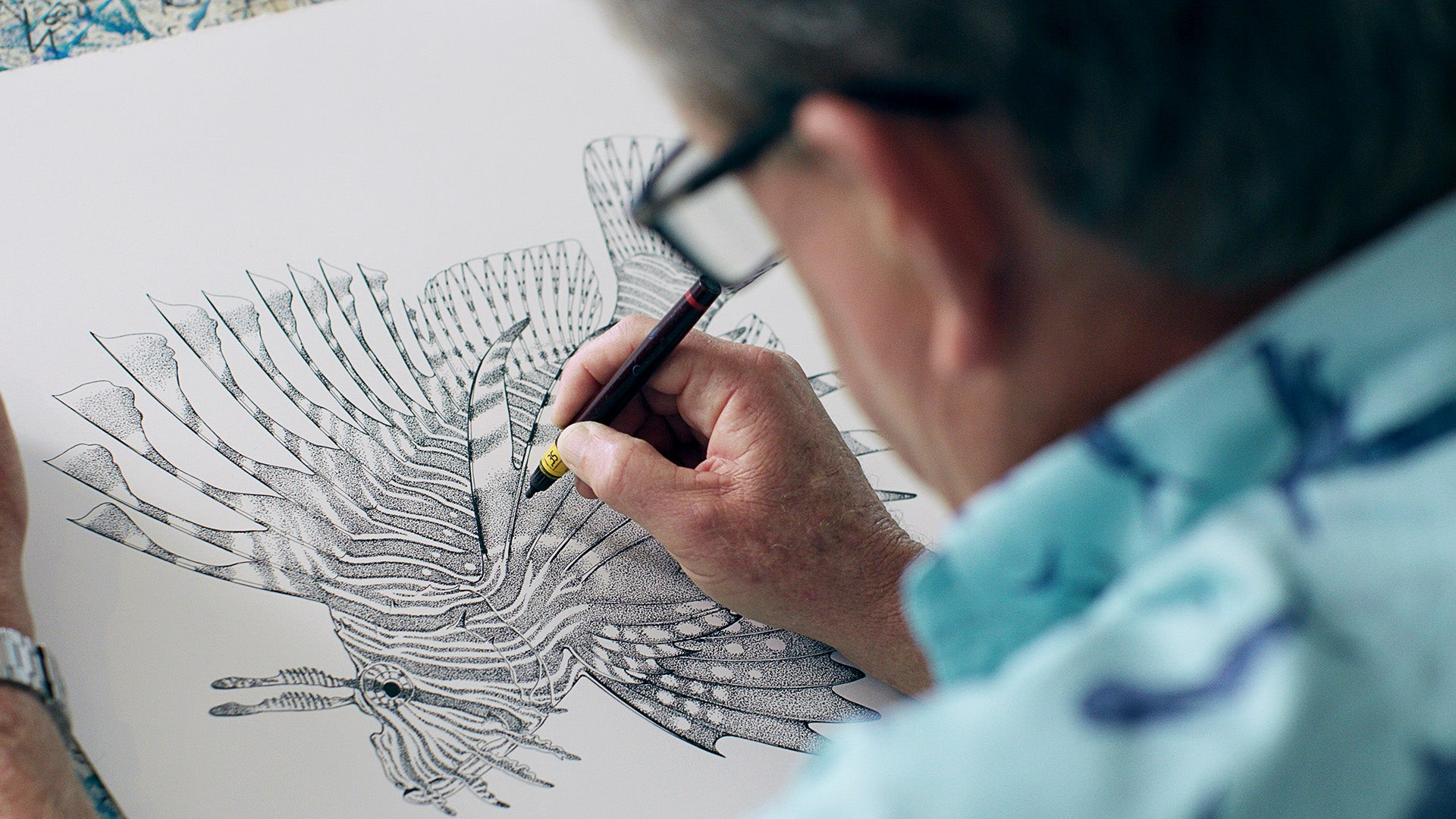 Guy Harvey working at his Grand Cayman studio, Guy Harvey art, Park West Gallery