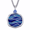 Guy Harvey Blue Changing Tides Necklace Sterling Silver and Enamel
