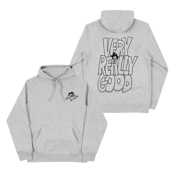 Very Really Good Skater Sport Grey Pullover Hoodie