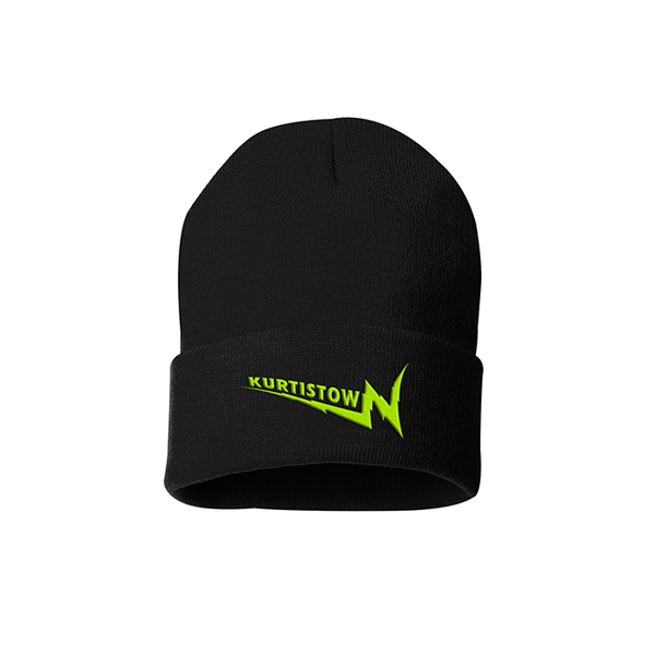 KURTISTOWN BLACK EMBROIDERED BEANIE