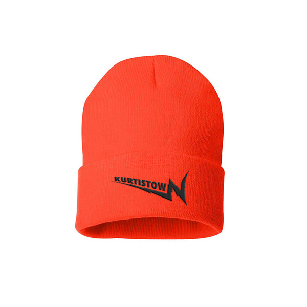 KURTISTOWN ORANGE EMBROIDERED BEANIE