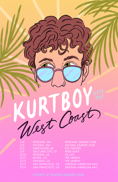 KURTIS CONNER 'WEST COAST 2020 WINTER TOUR' POSTER (UNSIGNED)