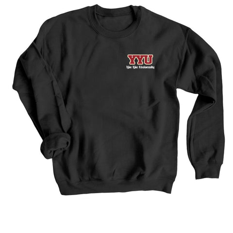 YYU BLACK CREWNECK