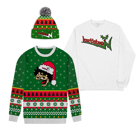 Holiday Sweater, Beanie and Long Sleeve Bundle