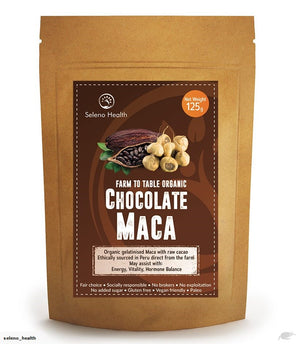 Adrenal Fatigue, Seleno Health Chocolate MACA 125g