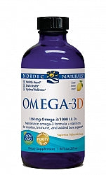 Circulation/Heart, Nordic Omega-3D 237ml - Lemon